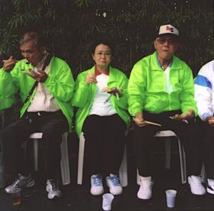 Members of one of the Okinawan Immigration delegation