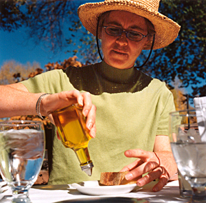 Katherine with the olive oil