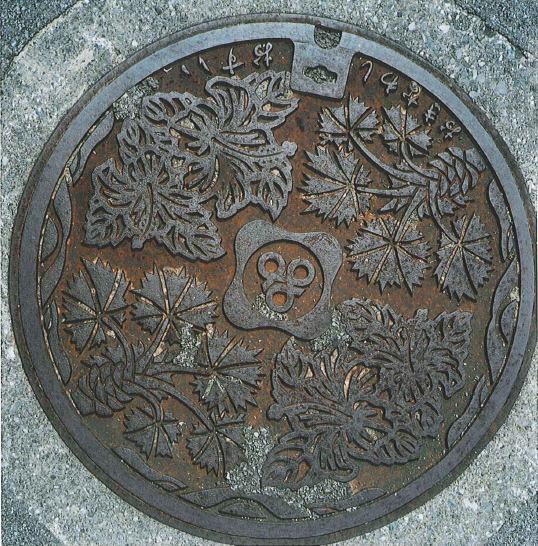 Manhole cover with plants