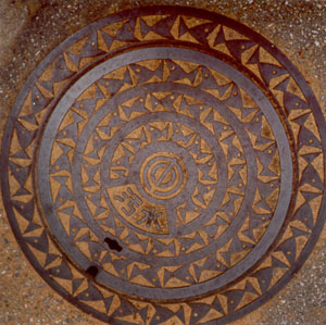 Sewer cover -- fish