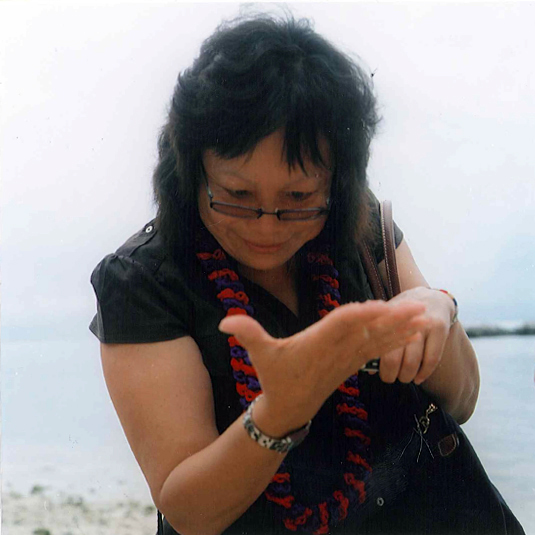 Christine Goias on Taketomi Island
