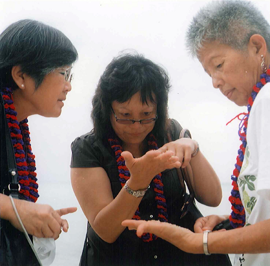 Evelyn Akamine, Christine Goias, and Jane Yanabu