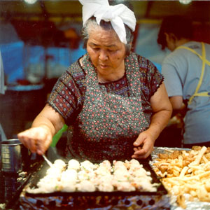 A vendor at the Uchinanchu Festival